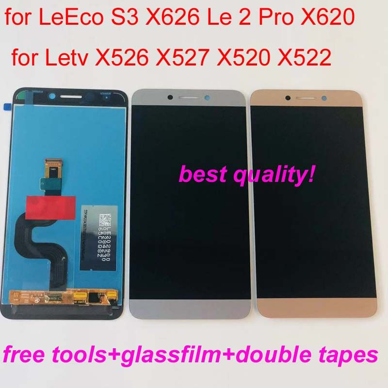 For LeTV LeEco Le S3 X626 X521 / X525 / X527 / X528 / X529 X620 X625 Le2 LCD Display Touch Screen Digitizer Assembly Replacement