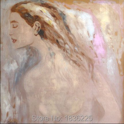 High Quality Handmade Hot Sex nude Chinese Girl Modern Nude Art Oil Painting  for Wall Art Decoration for Bedroom Wall Decor