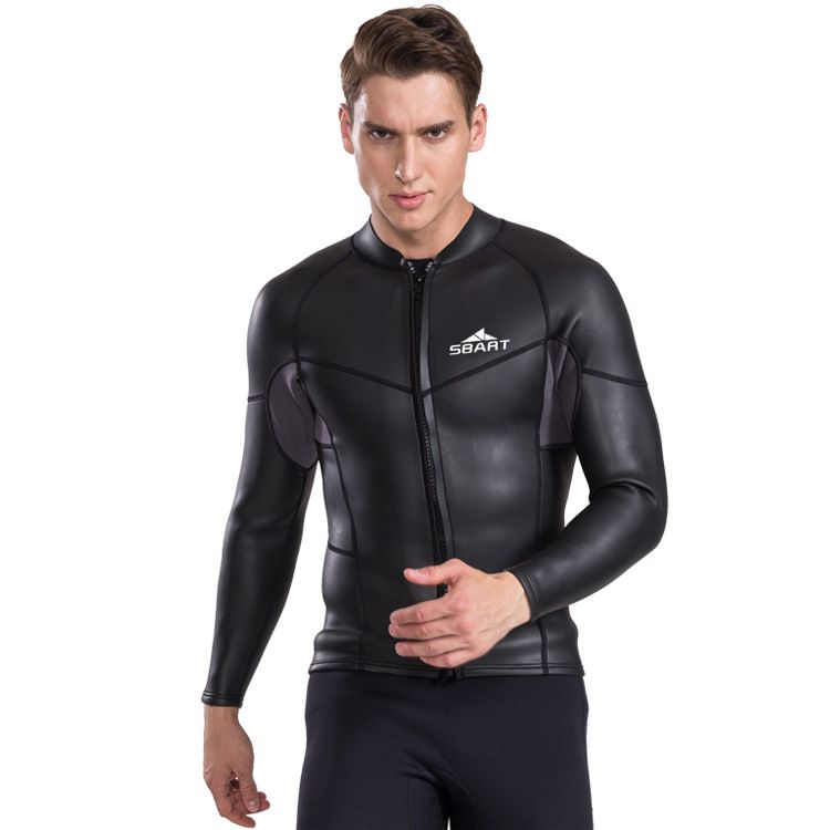 Sbart Long Sleeved 2mm Neoprene Keep Warm Wetsuit Surfing Diving Jacket Snorkeling Jellyfish T-shirt