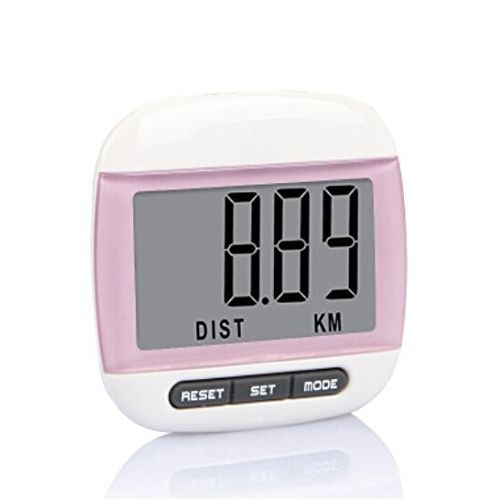 PROMOTION!Multi-function Pedometer Distance Calorie Counter Measurements Pink
