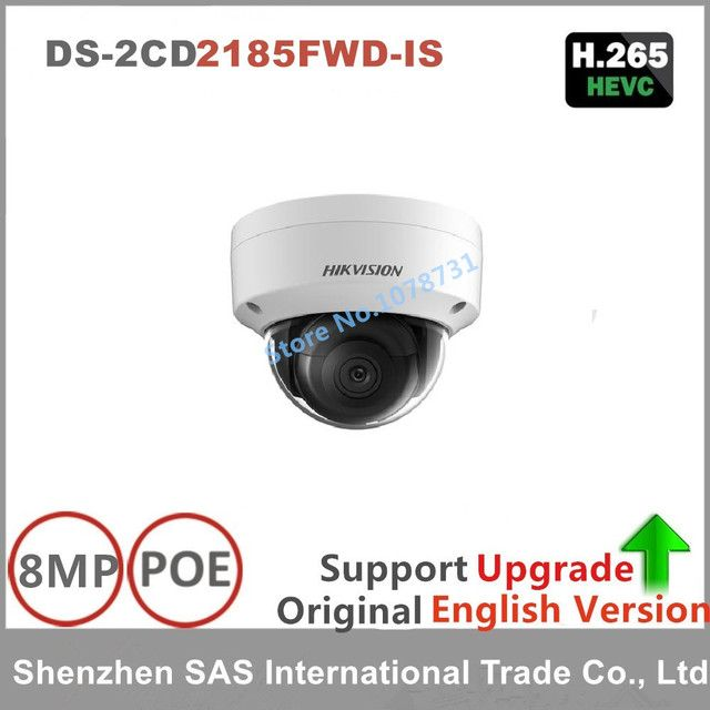 Hikvision 8MP IP Camera Network Dome Camera DS-2CD2185FWD-IS 3D DNR Bullet Camera with High Resolution