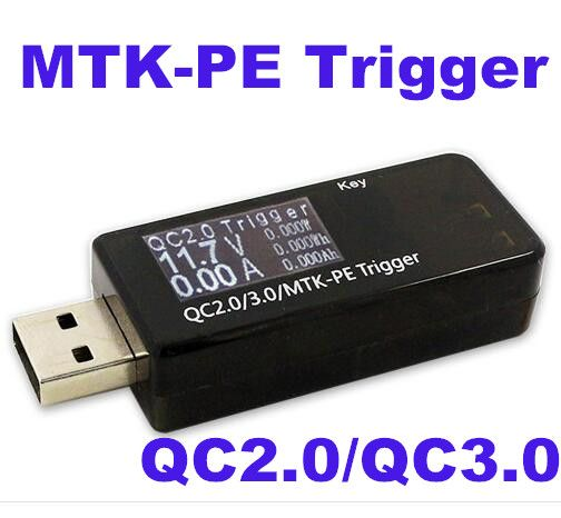 10PCS QC2.0/3.0/MTK-PE USB Trigger tester/induction quick charge voltage detector Current volt capacity power meter voltmeter