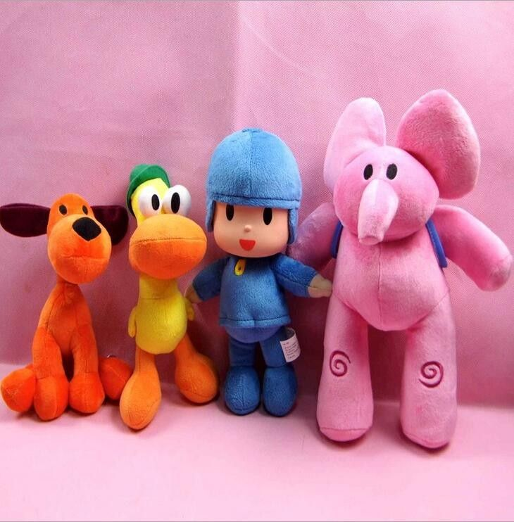 4pcs/lot 14 to 30 cm New Kids Brinquedos Gift POCOYO my cute little Stuffed Plush poni Toys Cute Dolls Stuffed Figure Toy Anime