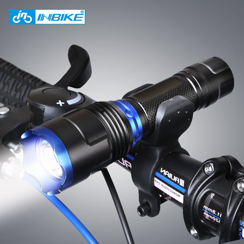 INBIKE Bike Light with Torch Holder Led Bicycle Front Light Cycling Flashlight Q5 Zoom Lantern For Bicycle Accessories bicicleta