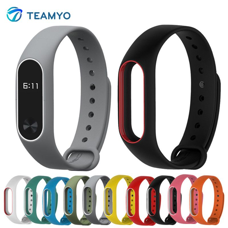 Silicone For Xiomi Mi Band 2 Bracelet Strap Miband 2 Colorful Strap Wristband Replacement Smart Band For Xaomi Mi Band 2
