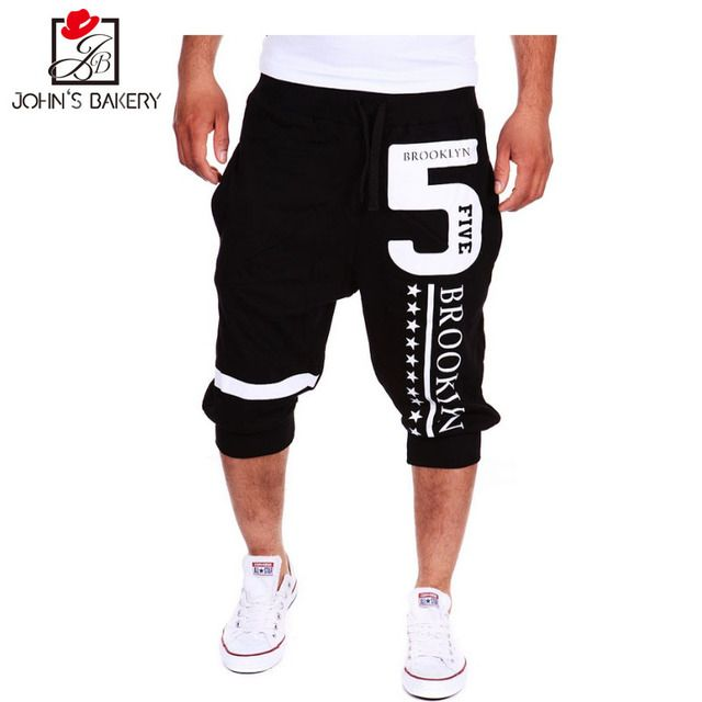 2017 Mens Shorts Casual Bermuda Brand Letter Printing Compression Male Cargo Shorts Men Linen Fashion Men Short Summer Linen XXL