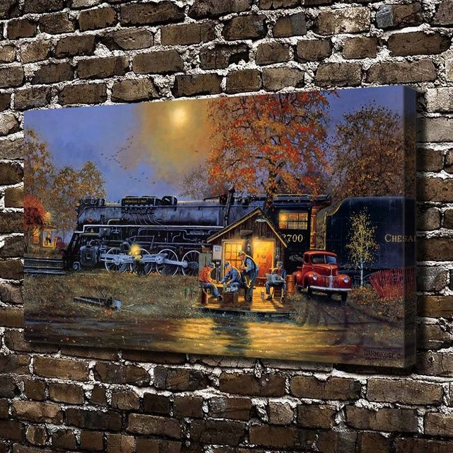 A0510 Dave Barnhouse Passing Time Landscape, HD Canvas Print Home decoration Living Room bedroom Wall pictures Art painting