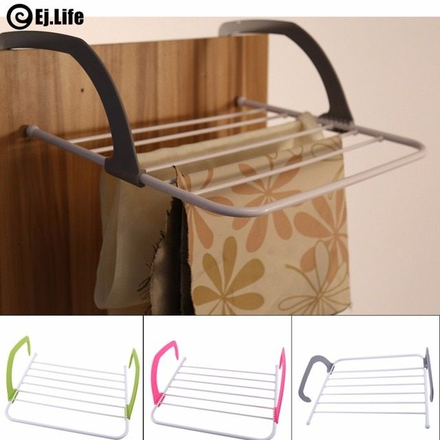 EJ.life Brand Multifunction Indoor & Outdoor Folding Clothes Rack Drying Storage Laundry Hanger Dryer - Gray/Green/Rose Red