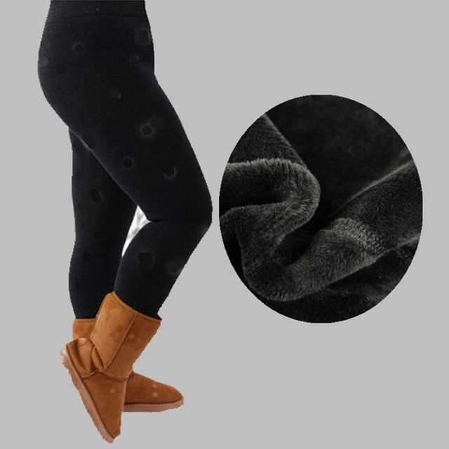 Free shipping  FOOTLESS Women's Warm Thick  PLUS SIZE Brushed Stretch Fleece Lined Thick Tights Warm XL XXL