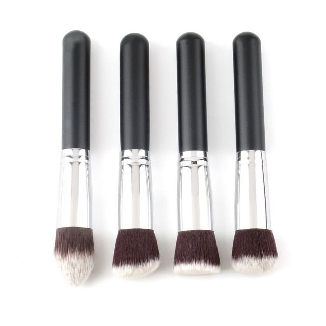 Top Quality!!!4 pcs/lot Professional Synthetic makeup Brush single makeup tool Cosmetic Foundation brush kits make-up brush