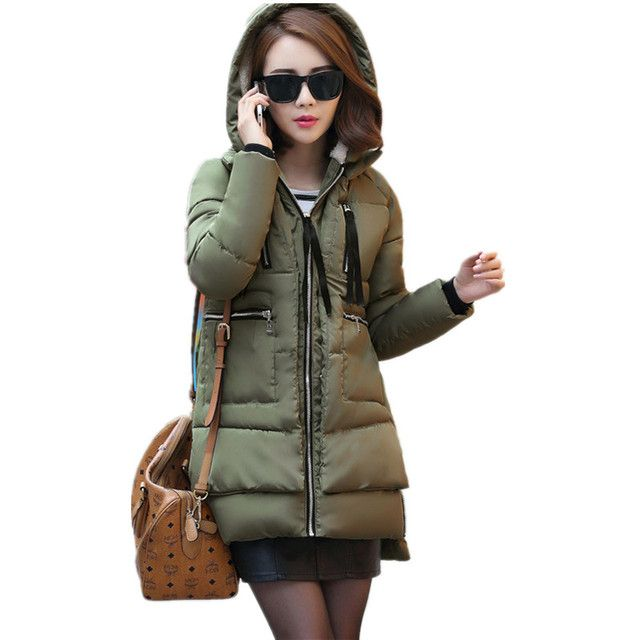 Winter Jacket Women Military Coat Long Parkas Women's Clothing Down Cotton Wadded Jacket Hoodies Casual Jacket Coats C1405
