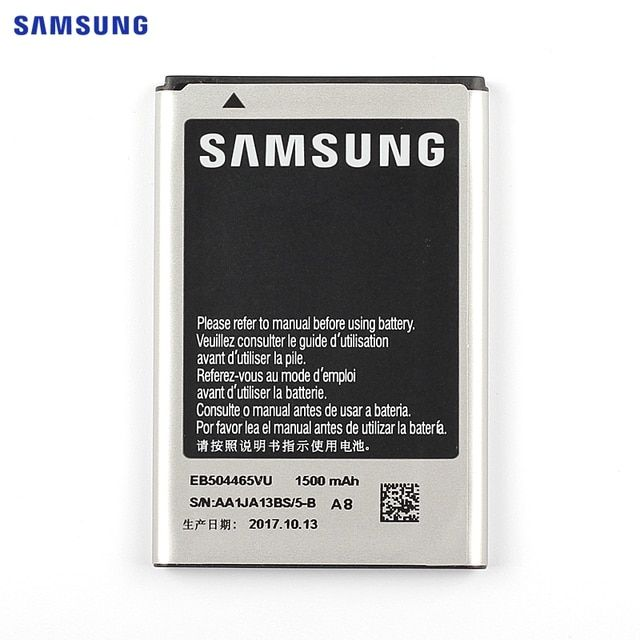 SAMSUNG Original Replacement Battery EB504465VU For Samsung S8530 S8500 i5700 W799 i5800 I5801 I329 B7620 I8700 B7330 1500mAh