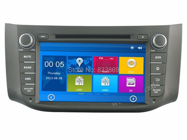 "HD 2 din 8"" Car Radio DVD Player for Nissan SYLPHY B17 2012-2014 With GPS Navigation Bluetooth IPOD TV SWC USB AUX IN"