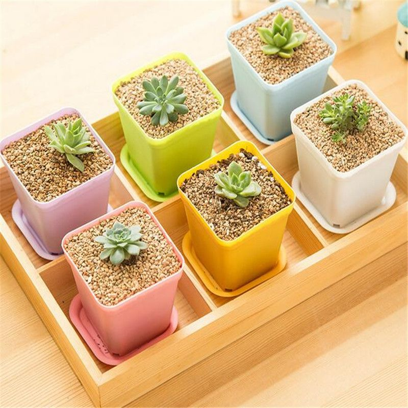 Flower Pots Plastic Planting Pot Gardening Plastic Pots Plant Flowerpot For Home Office Decoration Garden Supplies Mini