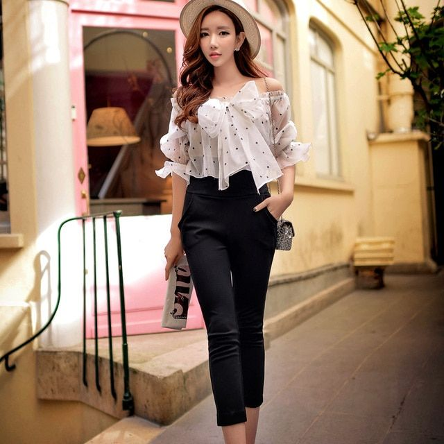 Original New Design 2016 Brand Autumn Romper Plus Size Slim Elegant Fashion Bow White Dot Print Women Jumpsuit Wholesale
