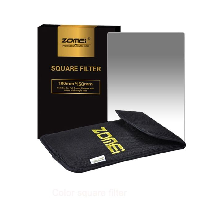 Zomei Square Filter 100mm x 150mm Graduated Neutral Density Gray GND248 ND16 100mm*150mm 100x150mm for Cokin Z-PRO Series Filter