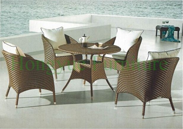 Dining room table set furniture in rattan materials,home dining furniture