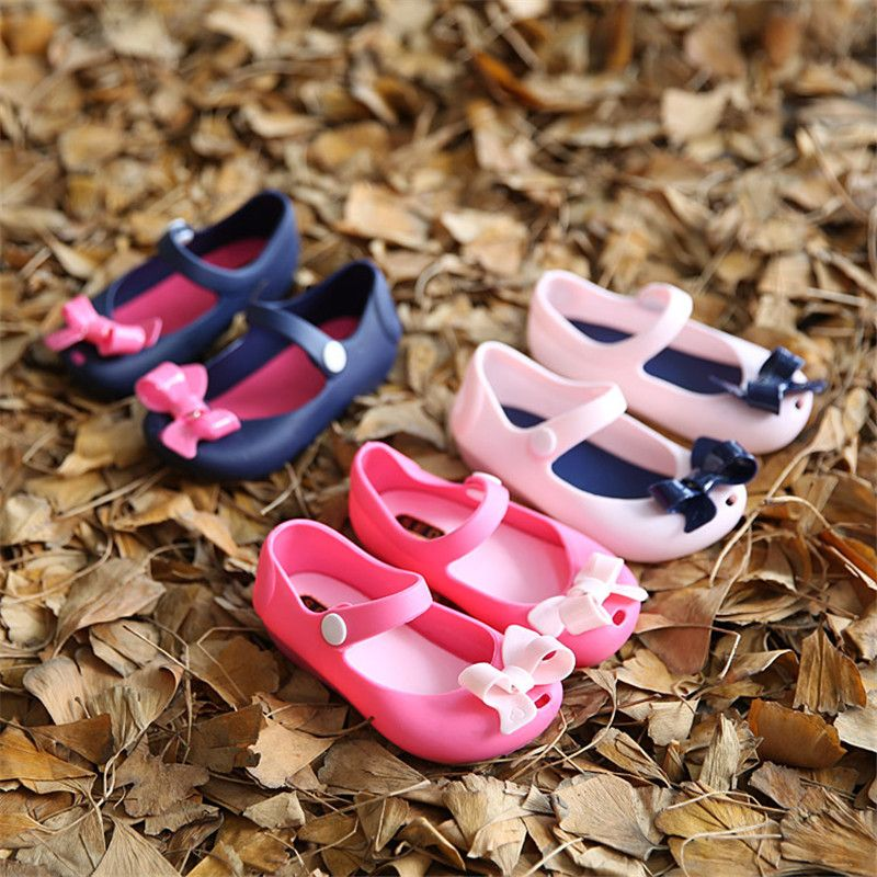 Kids Shoes summer mini SED Child jelly shoes open toe bow female plastic soft outsole children sandals children shoes for girls