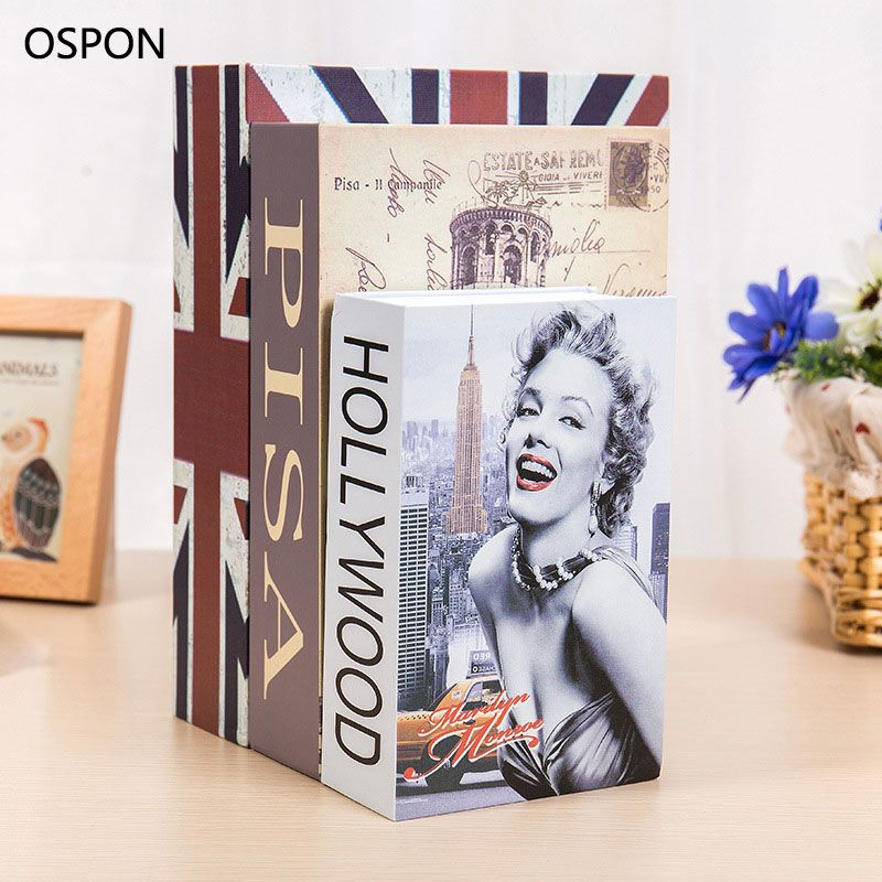 OSPON Book Safes Metal Steel Cash Secure Hidden Dictionary Booksafe Homesafe Money Box Coin Storage Secret Bank Password Size M