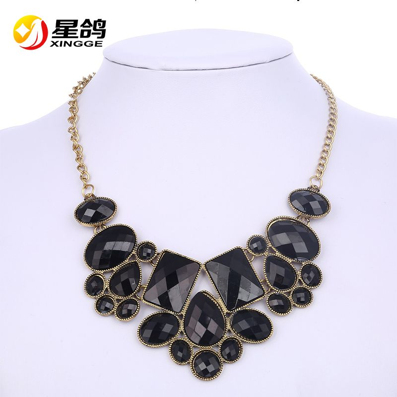 2016 New Fashion Vinatge Jewelry Wholesale Gem Choker Charm Statement Retro Necklaces & Pendants Women Gift