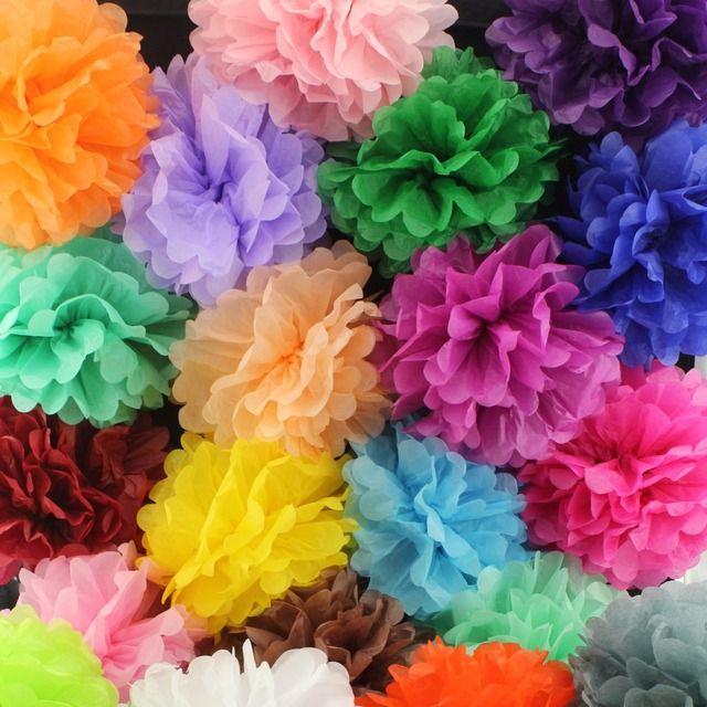 Wholesale 10inch 25cm Handmade pom poms Wedding Paper Flowers Ball Pom Poms For Wedding & Home Baby Shower Decoration,10pcs/lot
