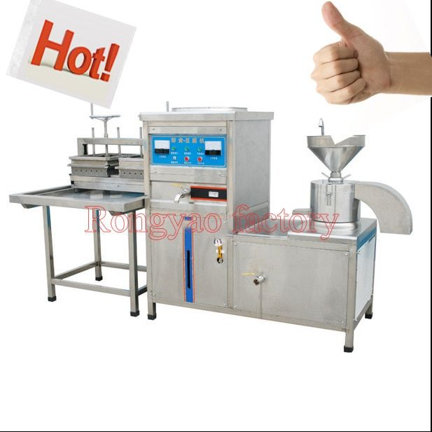 150-180kg/h hot cooking tofu mold pressed maker machine chinese food snack equipment grinding boiling pressing & molding machine