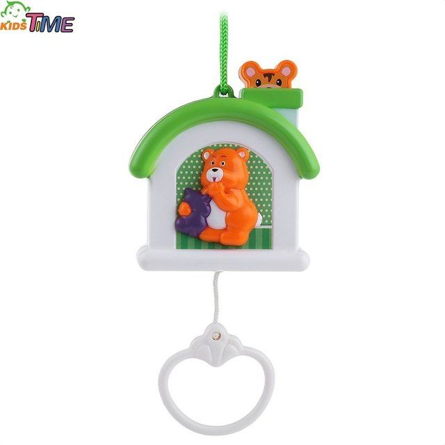 New Cartoon Baby Bed Bell Early Educational Learning Cute Animal Pattern Rotation Light Musical Box Crib Entertainment Toy