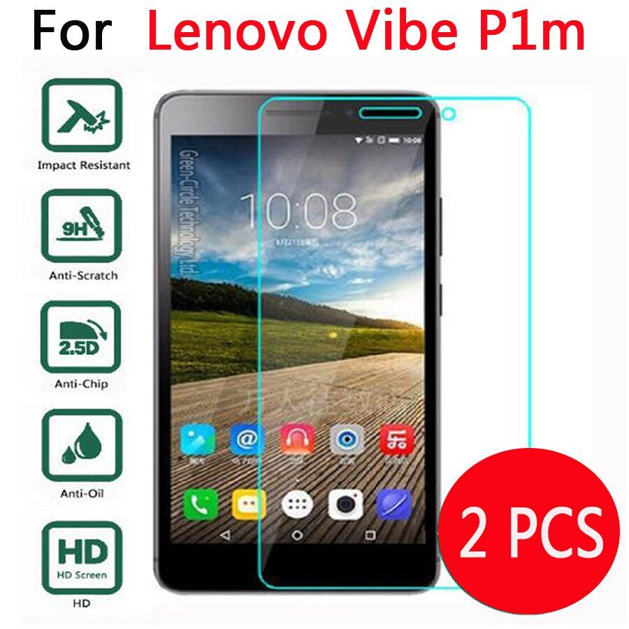 2 Pcs Screen Protector Tempered Glass For Lenovo Vibe P1m P1 m P1mc50 P1ma40 5 inch 2.5D On Phone Premium Protective Film Case