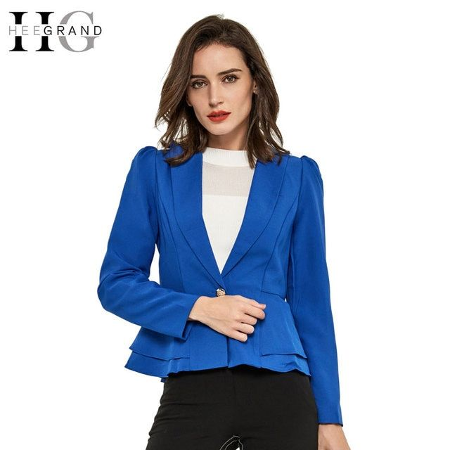 HEE GRAND Blazer Women Natural Color Jacket Single Breasted Notched Women Full Sleeve Solid Blazers Feminino Suit Jacket WWX289
