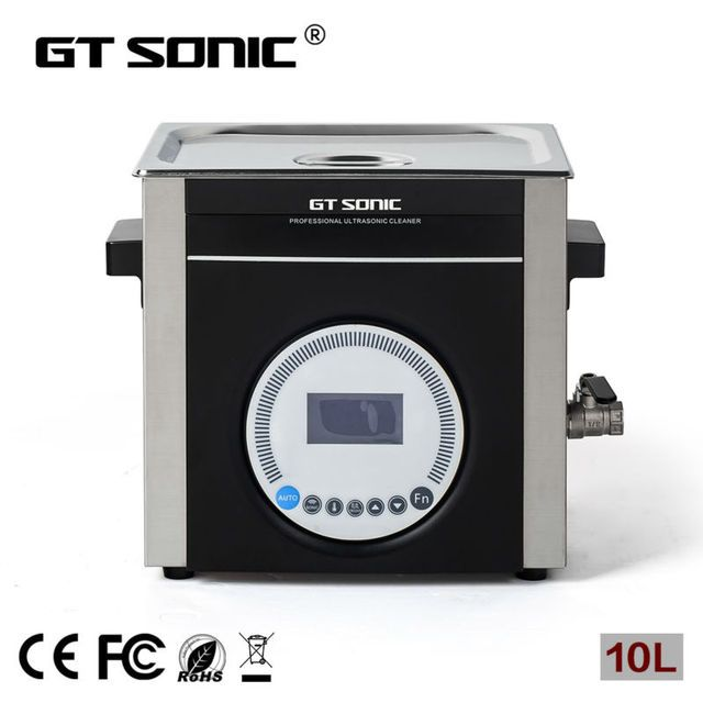 Stainless steel lab used 10L ultrasonic cleaner with degas and  low noise ultrasonic cleaning machine  GT SONIC-L10