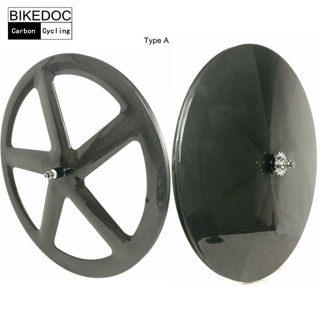 BIKEDOC 700c Track Bike Wheel Racing Road Carbon Wheels Toray 700 Fixed Gear Wheels