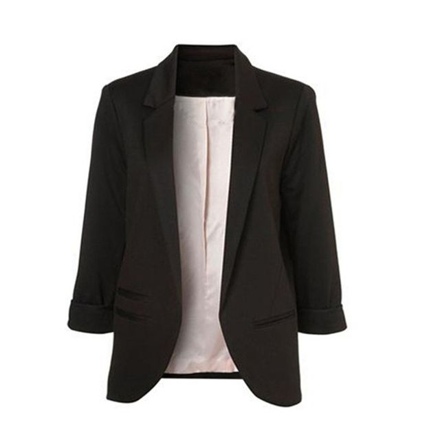 Blazer Women Jacket Coat Female Black White Women'S Business Suit Ladies Blazers Cardigan Women'S Business Suitclothes For Women