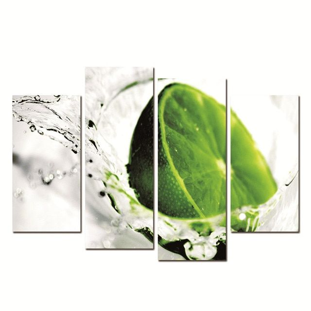 Green Lemon Wall Art Paintings Modern Living Room Decorative Canvas Printing No Frame Tableau Peinture Sur Toile
