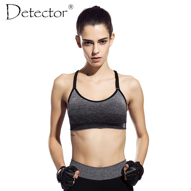 Detector Women Quick Drying Shock Absorption Professional Sports Bra Tank Top Vest Sport Fitness Yoga Seamless Running Vest