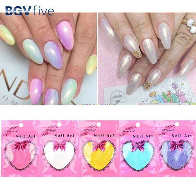 New arrivel Mermaid Effect Nail Glitter Shining Nail Art Tip Decoration Magic Glimmer Powder 10g Popular