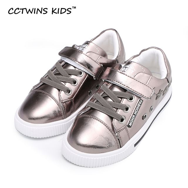 CCTWINS KIDS spring autumn boy brand stud casual shoe for children fashion pu leather sneaker baby girl black trainer toddler