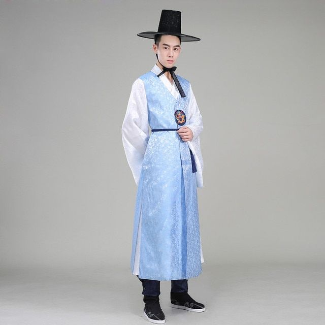 High Quality Orthodox Silk Korean Traditional Costume Wedding Costume Satin Male Hanbok Korean Ethnic Clothing for Men 18
