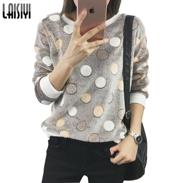 LAISIYI Women Hoodies Sweatshirt Spring Autumn Long Sleeve Casual Cute Print Hoodies Flannel Warm Pullovers Oversize EPHO80045