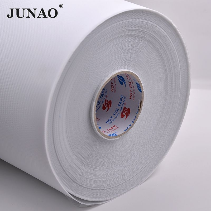 JUNAO 10 Meter *24cm Hot Fix Rhinestones Paper Tape Adhesive Iron On Heat Transfer Film for Hotfix Rhinestone Crystal DIY Tools