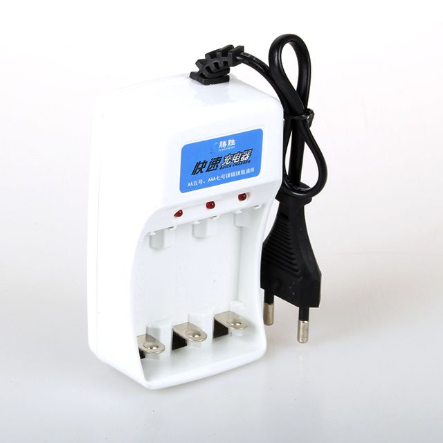 Universal AAA AA Battery Charger AC 220V EU Plug 3 Ports NiMH NiCd Batteries Charger for RC Camera Toys Electronics Etc.