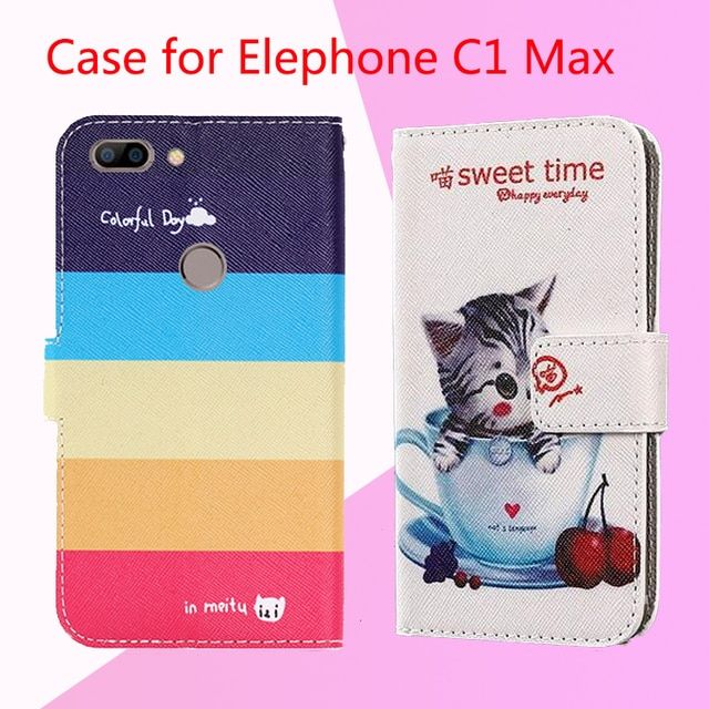 for Fly FS517 Cirrus 11 Case,  12 Colors Factory Price Flip PU Leather Exclusive Case for Elephone C1 Max/Oppo F3 Plus