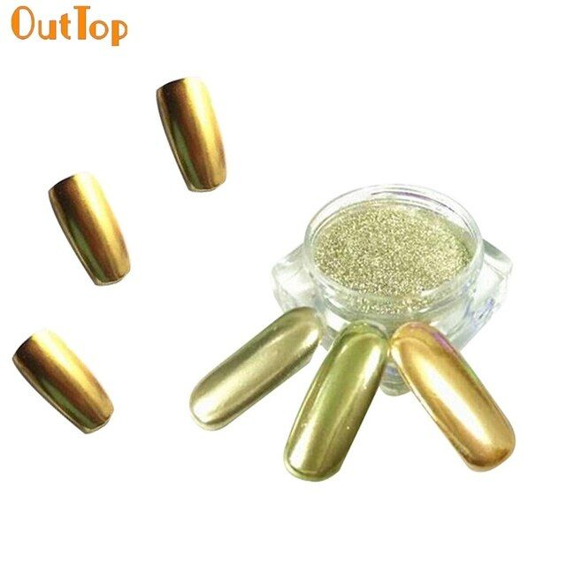 Mirror Nail Glitter 1g/ Box Gold Sliver Nail Glitter Powder Shinning Nail Mirror Powder Makeup Nail Art DIY Chrome Pigment 727