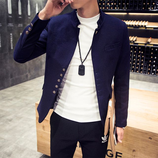 Winter new collar small suit men's cultivate one's morality leisure suit men's jackets free shipping