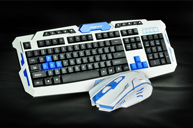 2.4G usb gaming wireless keyboard and mouse combo set   Multimedia game gamer kit Waterproofe DPI Control For Desktop PC Laptop
