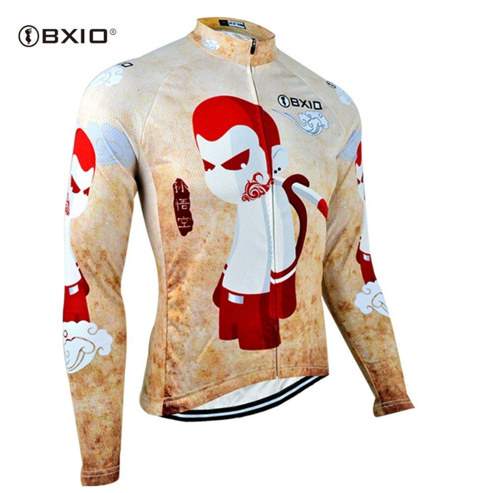 BXIO Long Cycling Clothing Winter Thermal Fleece Cycling Jersey Ropa Ciclismo Invierno Mtb Bike Clothes Roupa Ciclismo 101-J