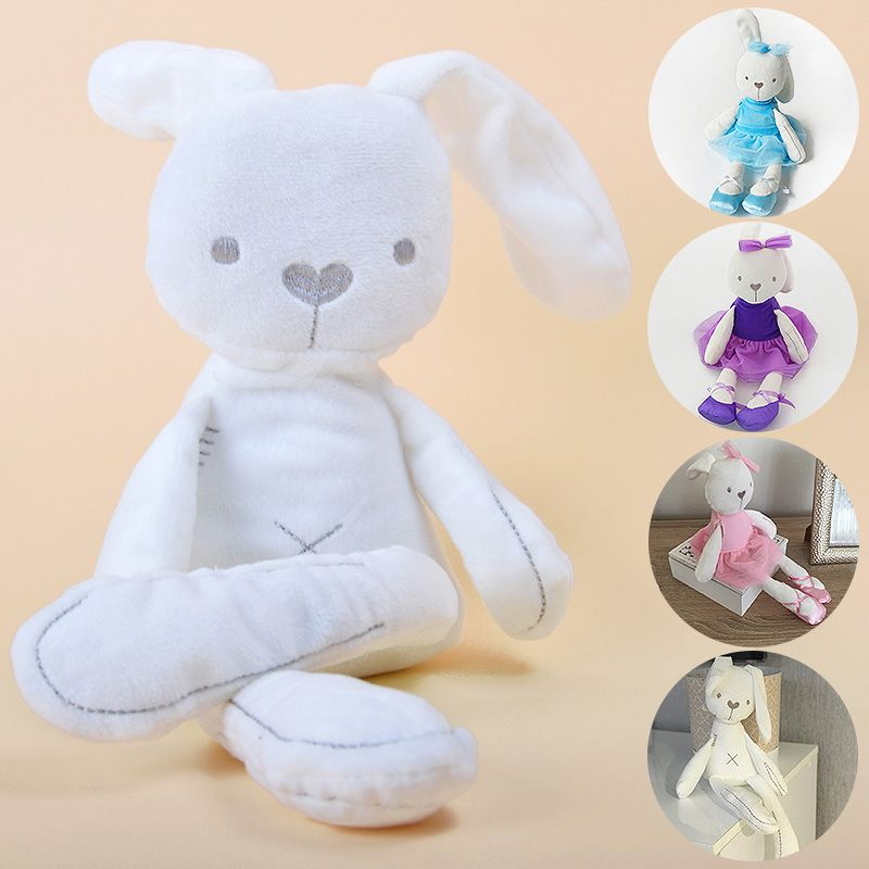kawaii Bunny Plush Toys Soft Stuffed Animal Rabbit Doll Toy For Children Infant Sleeping Mate Baby Appease Toy Kids Easter Gift