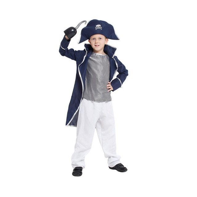 Shanghai Story Children Classic Halloween Costumes Boys Hook Captain Costume Kids Christmas Costume Halloween pirate Costume