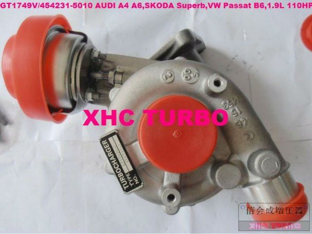 NEW GT1749V/454231 028145702H/R Turbocharger for A4 A6,SKODA Superb,VW Passat B6,AFN/AVG/ATJ/AJM 1.9L 110HP
