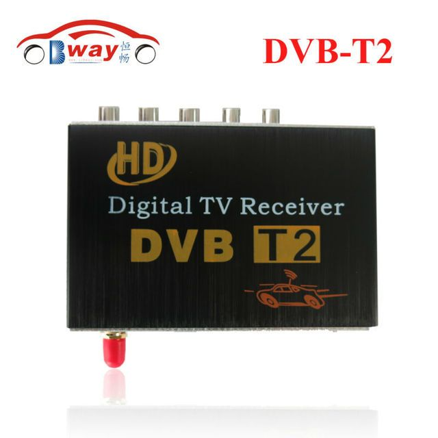 Car DVB-T2 Receiver for Russian Colombia Thailand USB DVB-T2 Android TV Tuner Car Digital Europe with Single Antenna DVB-T2 Auto
