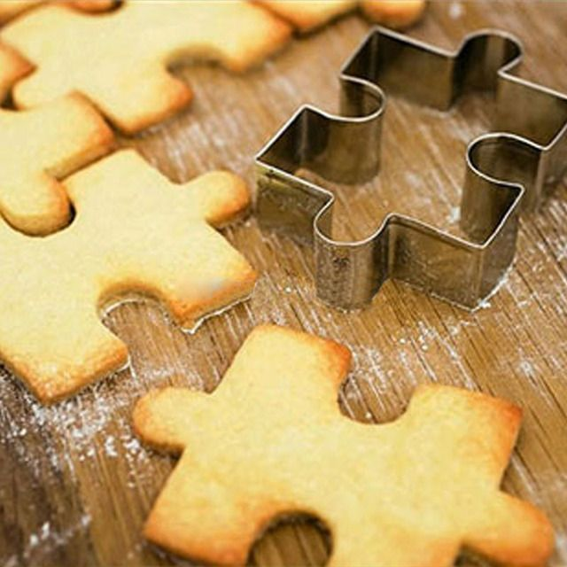 New puzzle shape cookie cutter cake decoration fondant cuttters tools cookies stainless steel biscoito moldes para galletas